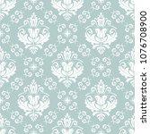 orient vector classic pattern.... | Shutterstock .eps vector #1076708900