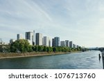 the view of seine river in... | Shutterstock . vector #1076713760