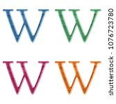 Assorted Color Wood Letter W...