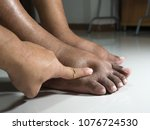 the feet of people with... | Shutterstock . vector #1076724530