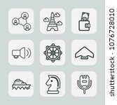 premium set of outline icons.... | Shutterstock .eps vector #1076728010