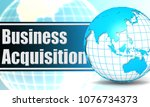 business acquisition with... | Shutterstock . vector #1076734373