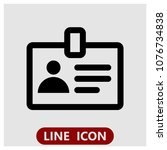 account  badge line icon for... | Shutterstock .eps vector #1076734838