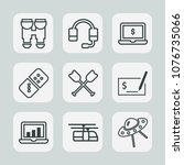 premium set of outline icons.... | Shutterstock .eps vector #1076735066
