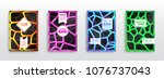 geometric shapes brochure... | Shutterstock .eps vector #1076737043