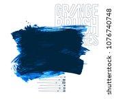 blue brush stroke and texture.... | Shutterstock .eps vector #1076740748