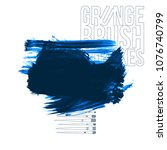 blue brush stroke and texture.... | Shutterstock .eps vector #1076740799