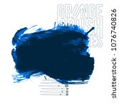 blue brush stroke and texture.... | Shutterstock .eps vector #1076740826