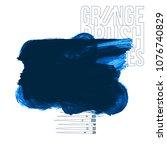 blue brush stroke and texture.... | Shutterstock .eps vector #1076740829