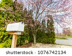 outdoors mail box in the spring ... | Shutterstock . vector #1076742134