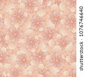 beautiful seamless floral... | Shutterstock .eps vector #1076746640