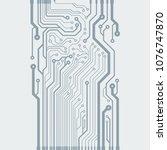 vector flat circuit board...   Shutterstock .eps vector #1076747870