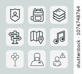 premium set of outline icons....   Shutterstock .eps vector #1076748764