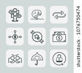 premium set of outline icons....   Shutterstock .eps vector #1076750474