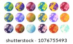 globes with and withour... | Shutterstock .eps vector #1076755493