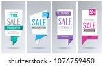 sale banner template. discount  ... | Shutterstock .eps vector #1076759450