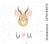 cute baby shower poster. cards... | Shutterstock .eps vector #1076764073