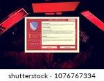 information firewall popup... | Shutterstock . vector #1076767334
