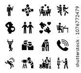 set of 16 people filled icons...   Shutterstock .eps vector #1076772479