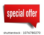 special offer red 3d square... | Shutterstock .eps vector #1076780270