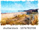 watercolour painting of... | Shutterstock . vector #1076781938