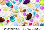 pills background. vitamin... | Shutterstock .eps vector #1076782550