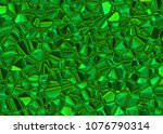 green shining emerald crystal... | Shutterstock . vector #1076790314