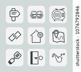 premium set of outline icons....   Shutterstock .eps vector #1076792846