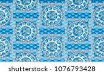 greek vector sea motif seamless ... | Shutterstock .eps vector #1076793428