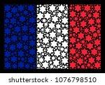 france national flag pattern... | Shutterstock .eps vector #1076798510