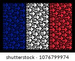 france flag mosaic created of... | Shutterstock .eps vector #1076799974