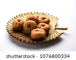 balushahi sweet food served in... | Shutterstock . vector #1076800334