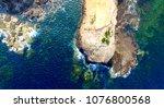 cape schanck overhead view from ... | Shutterstock . vector #1076800568