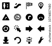 solid vector icon set  ... | Shutterstock .eps vector #1076807480