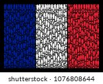 france national flag concept... | Shutterstock .eps vector #1076808644