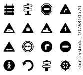 solid vector icon set   sign... | Shutterstock .eps vector #1076810570