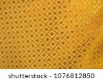 gold fabric texture background | Shutterstock . vector #1076812850