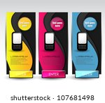 web promotional banners | Shutterstock .eps vector #107681498