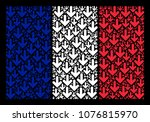 french state flag mosaic... | Shutterstock .eps vector #1076815970