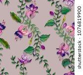 Fuchsia Flower Seamless Pattern....