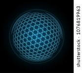 vector image of a golfball made ... | Shutterstock .eps vector #1076819963