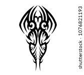 tribal pattern tattoo vector... | Shutterstock .eps vector #1076821193