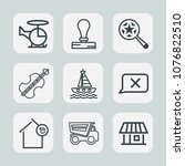premium set of outline icons.... | Shutterstock .eps vector #1076822510