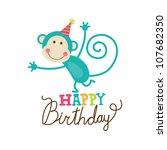 happy birthday card. vector... | Shutterstock .eps vector #107682350