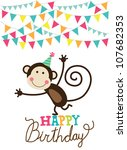 Happy Birthday Card. Vector...