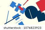 an abstract composition... | Shutterstock .eps vector #1076823923