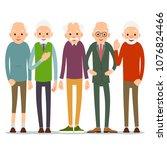 group of old people. older man... | Shutterstock .eps vector #1076824466