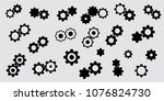 vector collection of simple... | Shutterstock .eps vector #1076824730