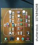 navigation signal light panel... | Shutterstock . vector #1076846048