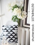 bouquet of spring flowers in... | Shutterstock . vector #1076846150